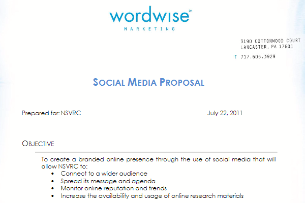 Social Media Proposal – Client Proposal Sample