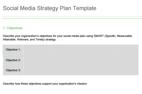 Social Media Proposal – Media Plan Template