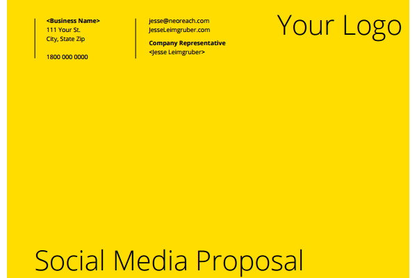 social media proposal template download 17