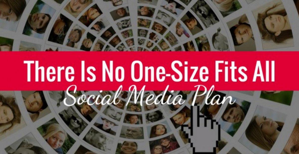 how to create bare bones social media prescene